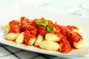 Gnocchi with a tomato sauce