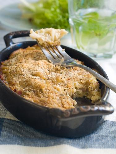 Fish and pasta bake