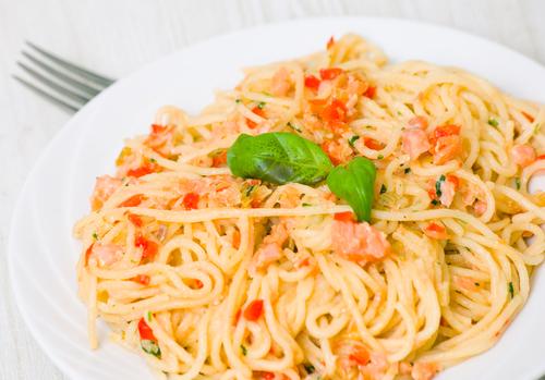 Fishy spaghetti
