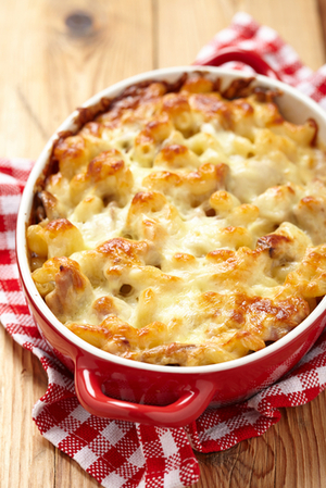 Cheesy chicken bake