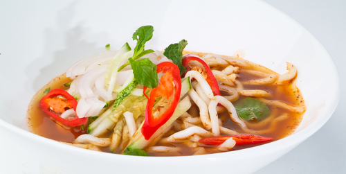 Malaysian spicy noodle soup