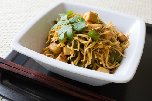 Honey and tofu noodles