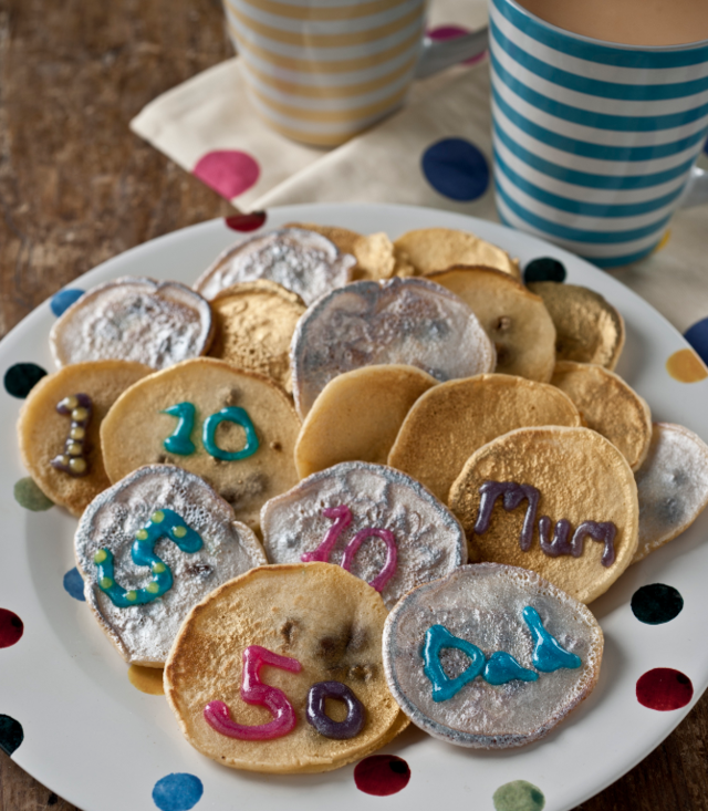 Gold and silver coin pancakes