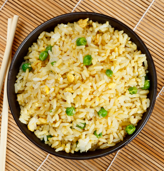Spicy egg fried rice