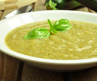 Potato and courgette soup