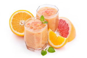 Grapefruit and orange breakfast smoothie