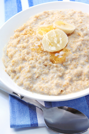 Banana and honey porridge