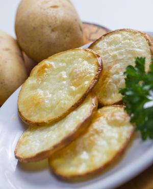 Salted crisps