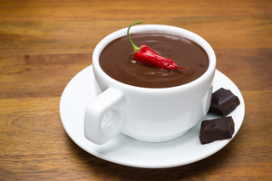 Spicy chocolate drink
