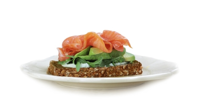Smoked Salmon with Avocado & Lime with Brennans Wholewheat Brown Bread