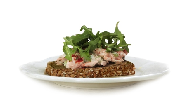 Poached Salmon, Yoghurt & Rocket with Brennans Wholewheat Brown Bread
