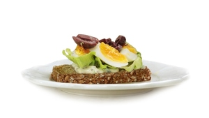 Egg, Mustard Mayonnaise & Olive with Brennans Wholewheat Brown Bread