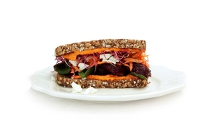 Vegetarian Superfood, & Feta with Brennans Wholewheat Brown Bread