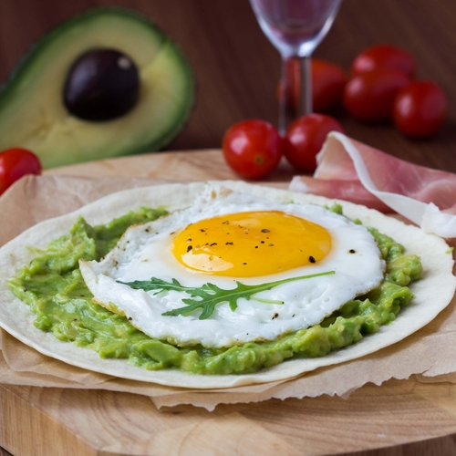 Mexican style avocado and eggs