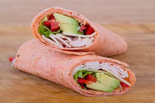 Avocado turkey wrap