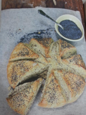 Rye and poppyseed wedges