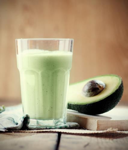 Avocado and almond milk smoothie