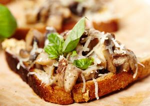 Mushroom toast topping