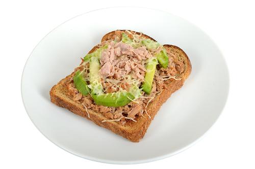 Tuna and avocado on toast