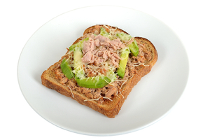 Tuna and avocado on toast