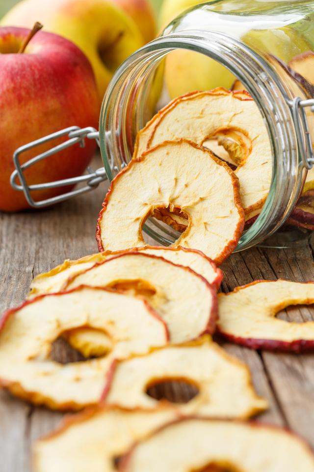 Homemade apple crisps