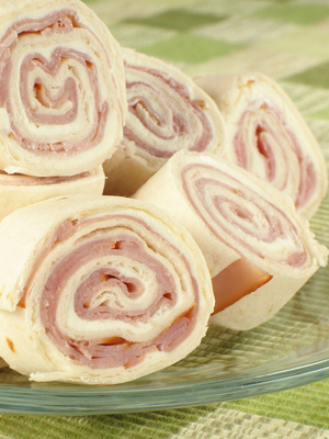 Ham and cream cheese pinwheels