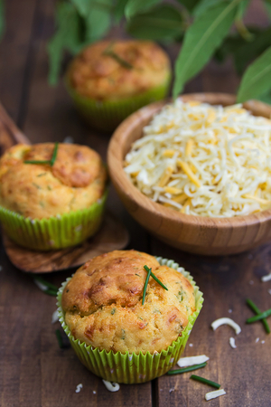 Pesto and parmesan muffins