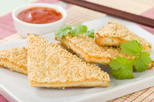 Sesame seed and prawn toast