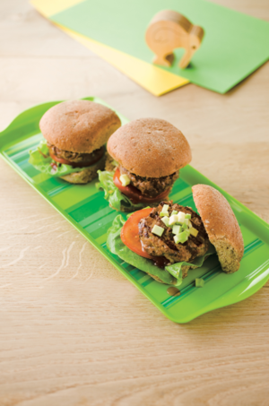 Beef and veggie burger