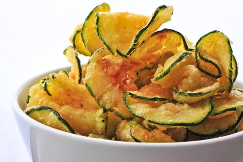 Crispy courgette slices