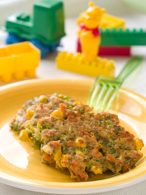Corn and chive fritters