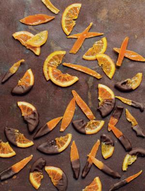 Candied citrus sticks