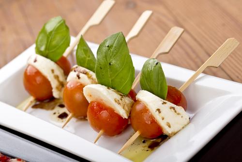 Cherry tomatoes and feta cheese