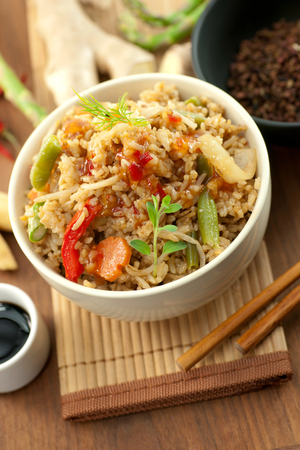 Asian infused rice with delicious pork