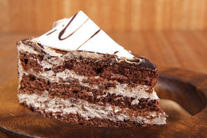 White chocolate cappuccino cake