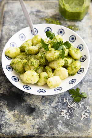 Spinach and pine nut gnocchi