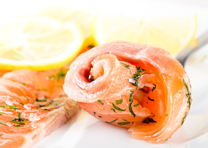 Gravadlax with a creamy cucumber sauce