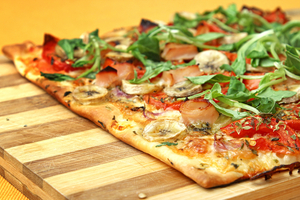 Greek inspired filo pizza