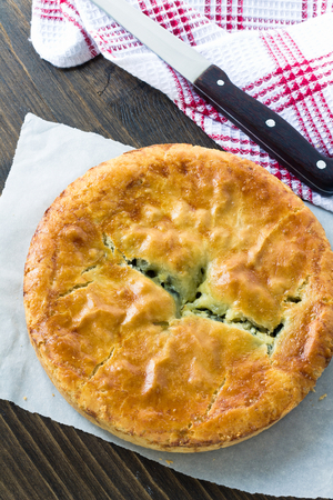 Chicken, leek & parsley pie