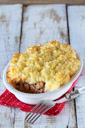 Delicious lamb potato pie