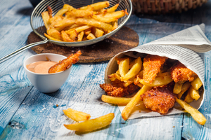Light fish and chips