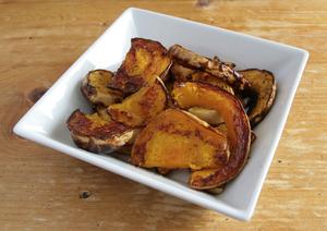 Baked butternut squash crisps