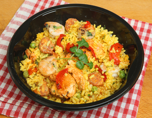 Spicy chorizo and prawn fried rice