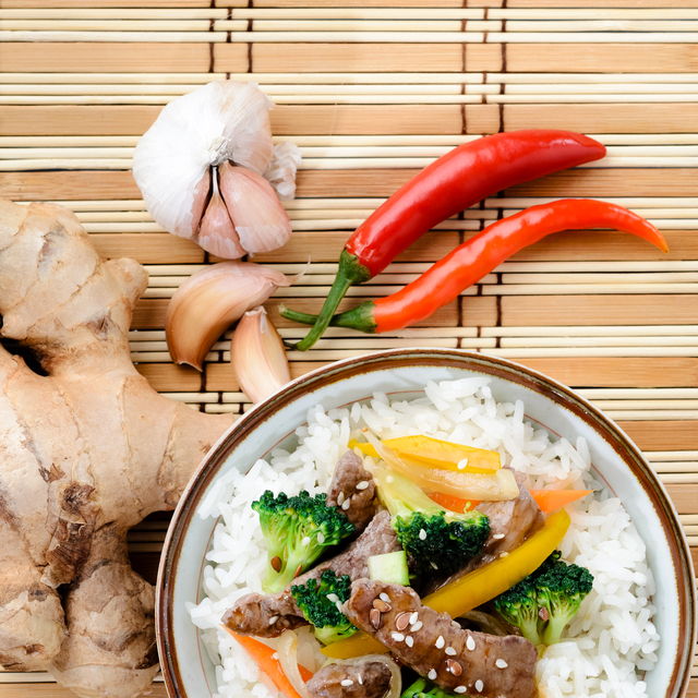 Ginger beef with vegetables
