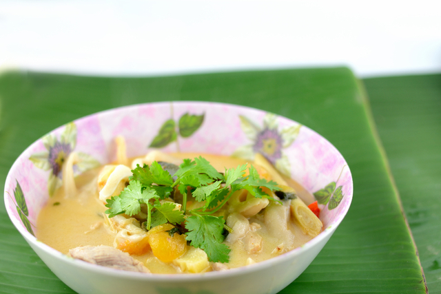 Thai hot and sour coconut soup