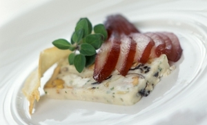 Irish goat's cheese and wild mushroom terrine