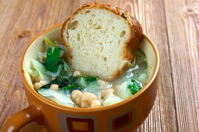 Classic ribollita, Italian soup, stew.