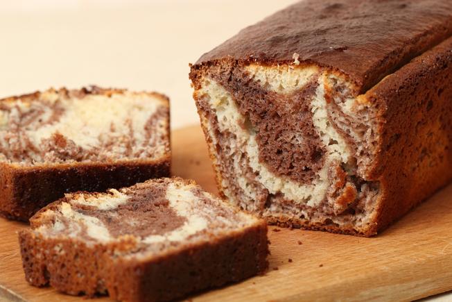 Marbled chocolate slice