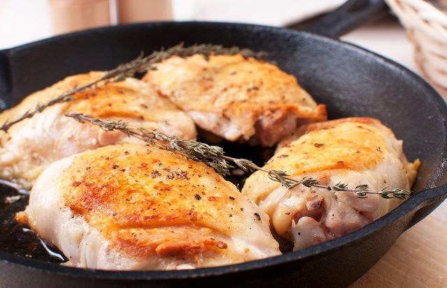 Baked chicken with herby butter