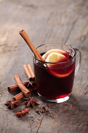 Traditional spiced mulled wine